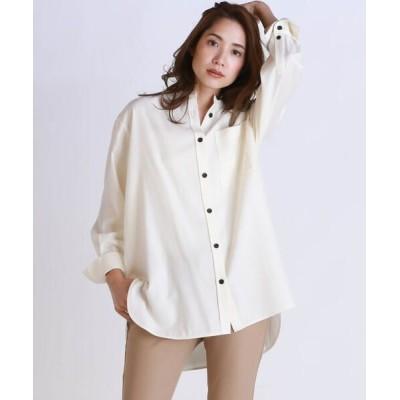 la.f.../ラ・エフ マイクロウォッチポケット付きシャツ ホワイト 7号