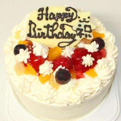 フルーツ生クリームデコレーションケーキ 4号 12cm