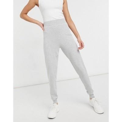 エイソス レディース カジュアルパンツ ボトムス ASOS DESIGN coordinating knit sweatpants in gray heather Grey
