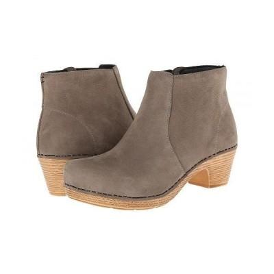 Dansko ダンスコ レディース 女性用 シューズ 靴 ブーツ アンクルブーツ ショート Maria - Taupe Milled Nubuck