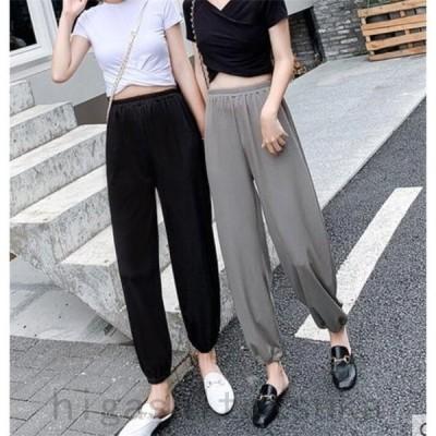 イージーパンツ レディース サルエルパンツ 春 ボトムス ハイウエスト 20代 30代 40代 50代 ファッション カジュアル 2020