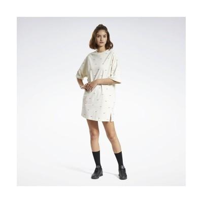 (reebok/リーボック)ショートスリーブ 総柄プリント ドレス /  Short Sleeve Allover Print Dress/レディース ホワイト