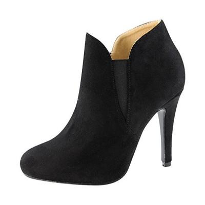 Bella マリー レディース スリップ On Stiletto Heel Ankle Bootie (9 B(M) US, ブラッ(海外取寄せ品)
