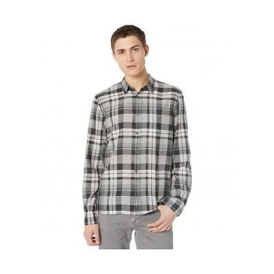 BLDWN メンズ 男性用 ファッション ボタンシャツ Harrison Shirt - Washed Black Plaid