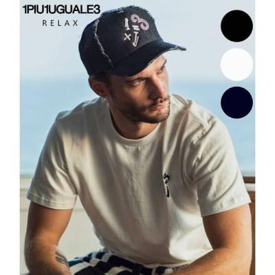 1PIU1UGUALE3 RELAX(ウノピゥウノウグァーレトレ)1+1=3キャップ CAP 帽子 ラインストーン フリーサイズ メンズ レディース ユニセックス カジュアル ギフト