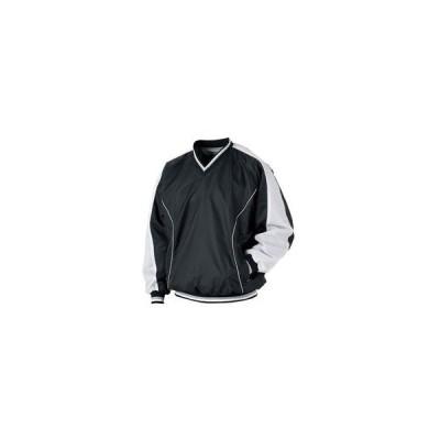 ZETT/ゼット  BO550-1911 長袖Vネックジャンパー 【Sサイズ】 (ブラック×ホワイト)