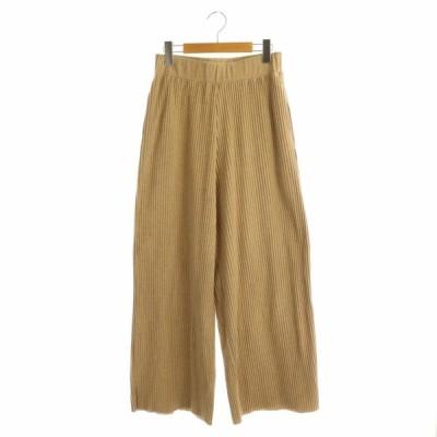 【中古】タイムトゥリラックス TIME TO RELAX 19SS PLATS PANTS パンツ ワイド プリーツ イージー ベージュ /AA ■OS レディース 【ベクトル 古着】