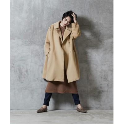 titivate / ビッグカラ-オーバーサイズコート WOMEN ジャケット/アウター > ステンカラーコート