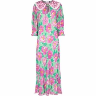 リキソ Rixo レディース ワンピース マキシ丈 ワンピース・ドレス Lauren floral satin maxi dress Bloom Pink