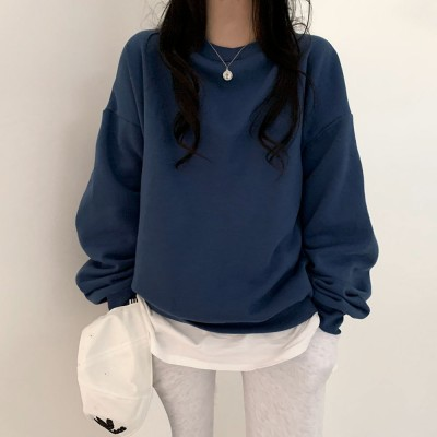 [BeiDelli]韓国NO.1女性のファッション! 5color! /  歌声非終わりチャンナン[おすすめ/裹起毛裏地]オ・バフェットトーンダウンスウェット /  韓国ファッション