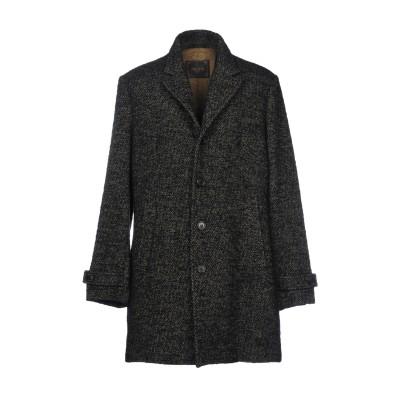 PALTÒ コート ブラック 56 バージンウール 37% / ウール 24% / ナイロン 15% / 毛(アルパカ) 12% / モヘヤ 12%