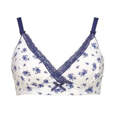 アビックス 花柄ナチュラルフィット授乳ブラ ネイビー L 390574