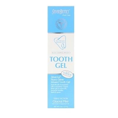 SilverSol 歯磨きジェル、 キシリトール配合、 グラシアルミント、 4 液量オンス (118 ml)