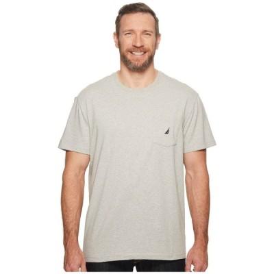 ノーティカ Nautica Big & Tall メンズ Tシャツ 大きいサイズ ポケット トップス Big & Tall Short Sleeve Anchor Pocket Tee Grey Heather
