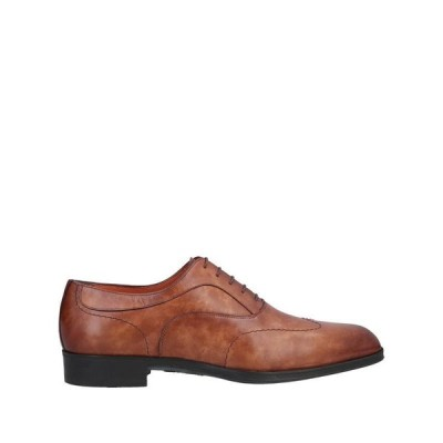 SANTONI レースアップシューズ  メンズファッション  メンズシューズ、紳士靴  その他メンズシューズ、紳士靴 タン
