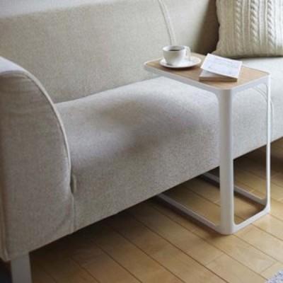木製天板 サイドテーブル ナイトテーブル 白 ホワイト ソファーサイド ベッド横