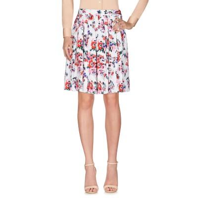 エムエスジーエム MSGM ひざ丈スカート ホワイト 40 コットン 100% ひざ丈スカート