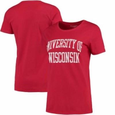 Champion チャンピオン スポーツ用品  Champion Wisconsin Badgers Womens Red University T-Shirt
