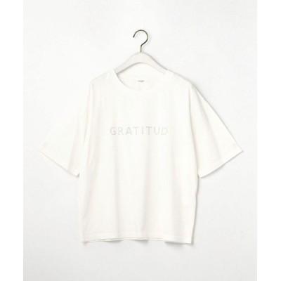 tシャツ Tシャツ 刺繍ロゴTシャツ