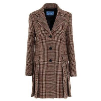 プラダ レディース コート アウター Prada Prince Of Wales Pattern Coat -