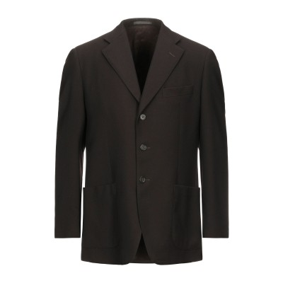 LUBIAM テーラードジャケット ダークブラウン 50 バージンウール テーラードジャケット