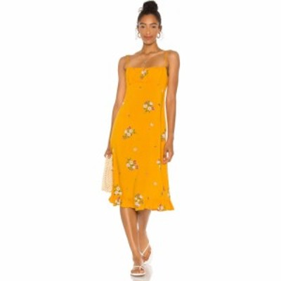 オーギュスト AUGUSTE レディース ワンピース ミドル丈 ワンピース・ドレス lotta davis midi dress auguste Yellow