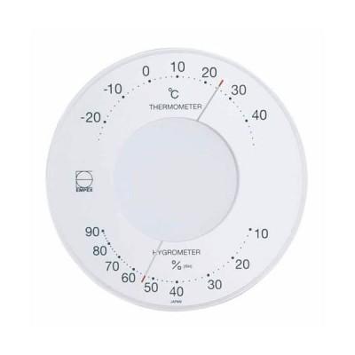 (まとめ)EMPEX 温度・湿度計 セレナ 温度・湿度計 壁掛用 LV-4303 ホワイト〔×5セット〕