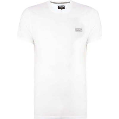 バブアー Barbour International メンズ Tシャツ ロゴTシャツ トップス Small Logo T Shirt White
