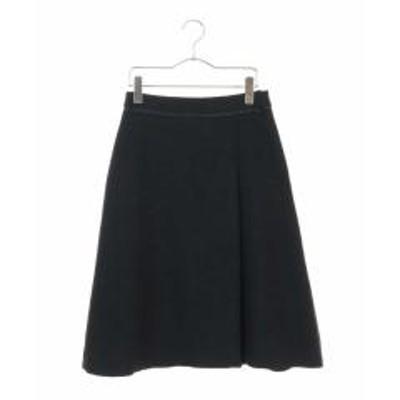 OFUON(オフオン)【セットアップ対応】ラップ風台形スカート【お取り寄せ商品】