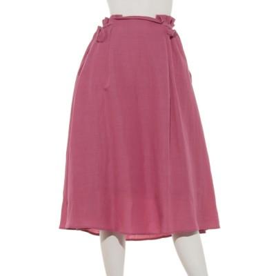 POU DOU DOU (プードゥドゥ) レディース サイドリボンフレアースカート ピンク M
