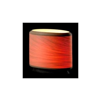 BUNACO/ブナコ Table lamp/楕円筒のランプは灯りを通すと神秘的な赤に