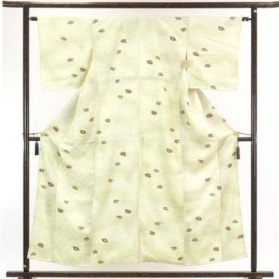 リサイクル着物 小紋 正絹白地ぼかし袷小紋着物