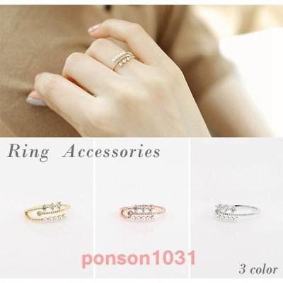 のみ23連ビジューリング指輪ビジュー石カラーストーン