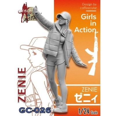 トリファクトリー 1/ 24 ガールズインアクションシリーズ ゼニィ(GC-026)プラモデル 返品種別B