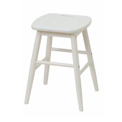 ロースツール スツール 木製 北欧 白 椅子 おしゃれ 天然木 ウッドチェア ホワイト 姫 ガーリー