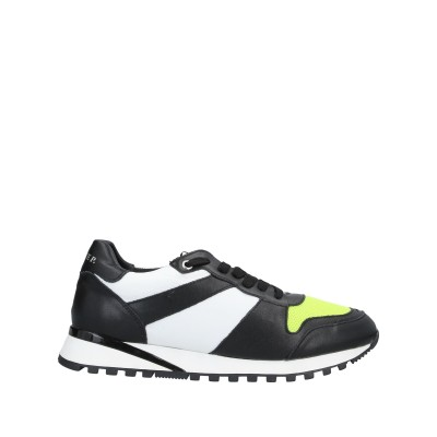 CESARE P. スニーカー&テニスシューズ(ローカット) ブラック 40 革 / 紡績繊維 スニーカー&テニスシューズ(ローカット)
