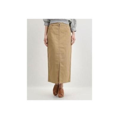 アルシーヴ archives ツイルフープジップスカート (BEIGE)