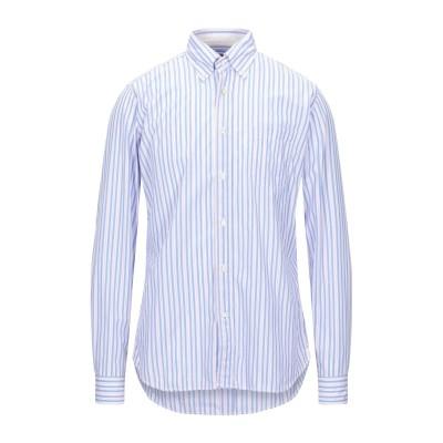 GUGLIELMINOTTI シャツ アジュールブルー 40 コットン 100% シャツ