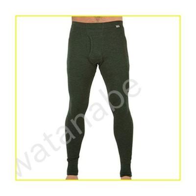 MERIWOOL Mens Base Layer 100% Merino Wool Thermal Pants Army Green【並行輸入品】