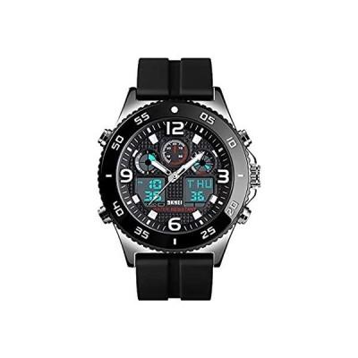 Business Watch Men Wristwatch Quartz Dual Display Watch Fashion Casual 3 Ti