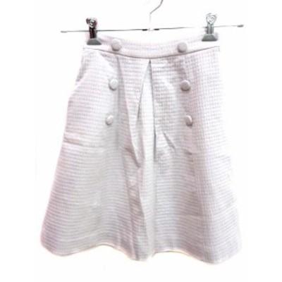 【中古】プロポーション ボディドレッシング PROPORTION BODY DRESSING スカート 台形 ひざ丈 1 無地 ピンク /YI レディース