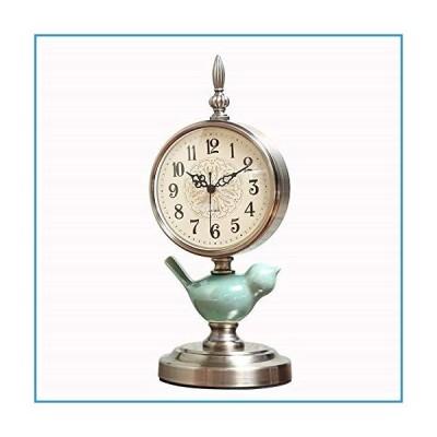 新品Teerwere Mantel Clock Retro Table Clock Home Decorative Clocks Living Room Clock Mantel Clock Desktop Ornaments Quiet Non-Ticking Cloc
