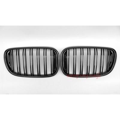 BMW 7シリーズ G11 G12 ブラックカーボン製グリル  2016-2018 ダブルバー 左右セット 送料無料