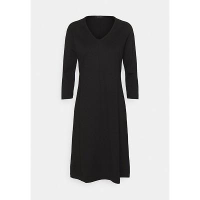 マルコポーロ ワンピース レディース トップス DRESS LONG SLEEVE VNECK - Jersey dress - black