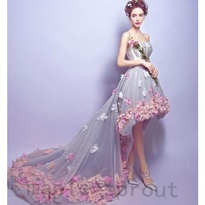 ウェディングドレス 二次会 ウエディングドレス カラードレス ロング 二次会ドレス パーティードレス ロングドレス イブニングドレス 大きいサイズ 結婚式