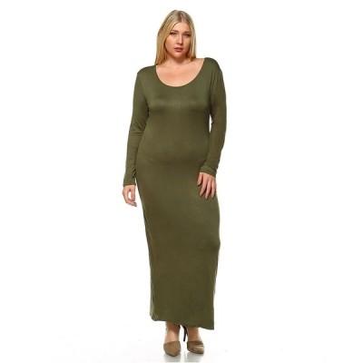 ホワイトマーク ワンピース トップス レディース Women's Plus Size Ria Dress Green