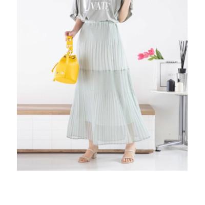 ランダムプリーツ楊柳スカート《手洗い可能》