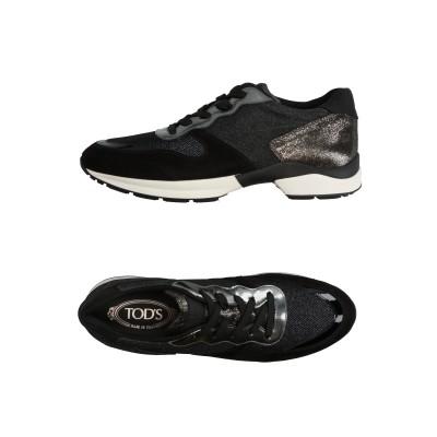 トッズ TOD'S スニーカー&テニスシューズ(ローカット) ブラック 41 革 / 紡績繊維 スニーカー&テニスシューズ(ローカット)