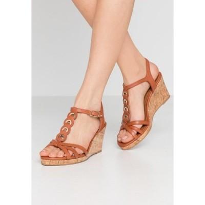 タマリス サンダル レディース シューズ Platform sandals - brandy