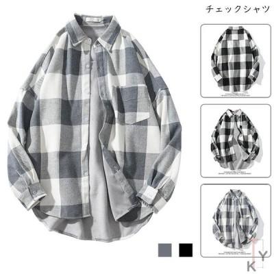 シャツ メンズ 秋服 カジュアル 長袖シャツチェックシャツ  チェック柄 大きいサイズ ゆったり 春 夏 秋 20代30代40代